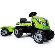 Smoby - Tractor cu pedale si remorca Farmer XL verde