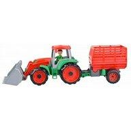 Lena - Tractor cu remorca Truxx pentru copii, Portocaliu