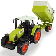 Dickie Toys - Tractor Claas Ares Cu remorca