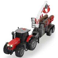 Dickie Toys - Tractor  Massey Ferguson MF 8737 cu remorca 42 cm