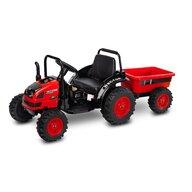 Toyz - Tractor electric Hector 12V Cu telecomanda, Cu remorca, Rosu