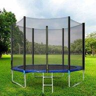 In One - Trambulina 305 cm cu plasa si scarita, Albastru