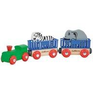 Eichhorn - Tren din lemn Animal Cu 2 figurine