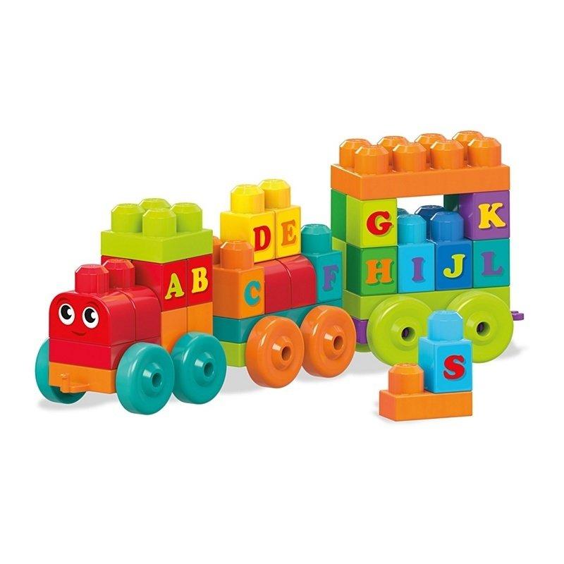 Trenulet cu litere Mega Bloks Fisher-Price din categoria Seturi constructii si cuburi de la Fisher-Price