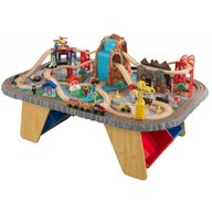KidKraft - Trenulet din lemn Waterfall Junction si masa de joaca