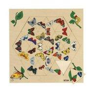 Educo - Puzzle din lemn Fluturi Puzzle Copii, piese 24