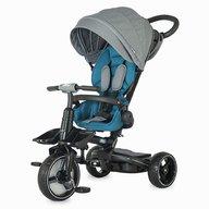 Coccolle - Tricicleta Alto Suport picioare, Control al directiei, Spatar reglabil, Pliabila, Albastru