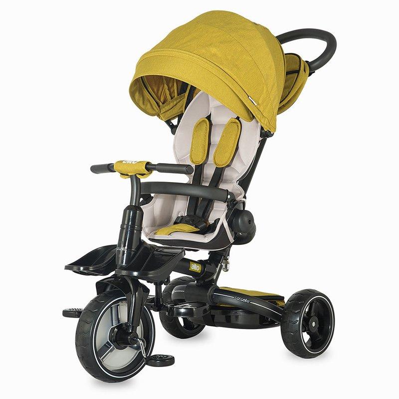 Tricicleta COCCOLLE Alto multifunctionala Mustar din categoria Triciclete si Trotinete pentru copii de la Coccolle