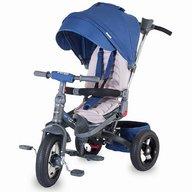 Coccolle - Tricicleta Corso multifunctionala, roti cauciuc, albastru