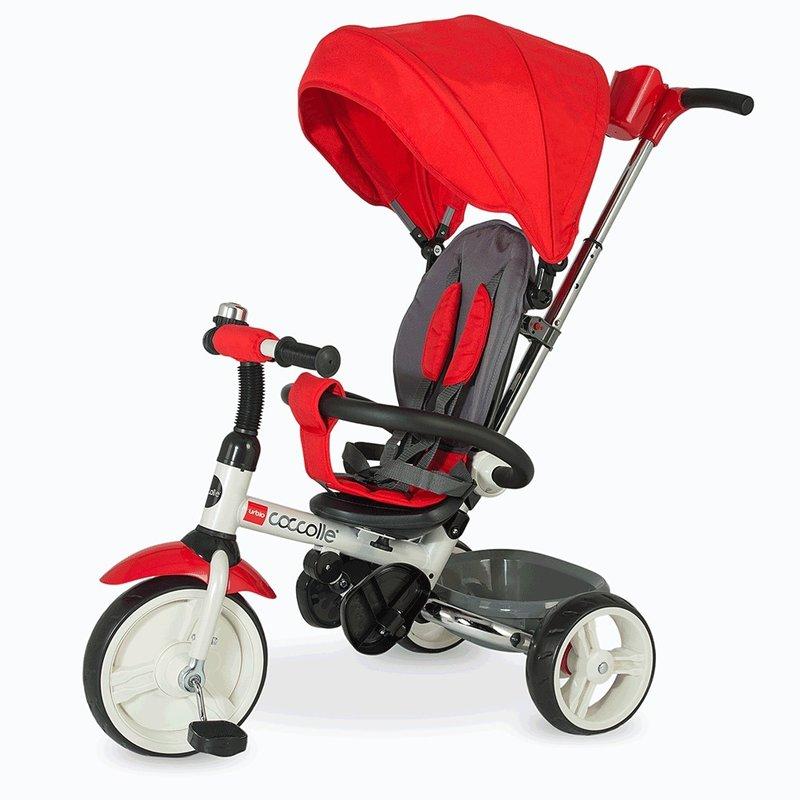 Tricicleta COCCOLLE Urbio pliabila rosu din categoria Triciclete si Trotinete pentru copii de la Coccolle