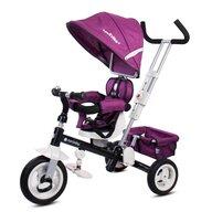 Tricicleta Super Trike Plus Mecanism de pedalare libera, Control al directiei, Scaun reversibil, Violet