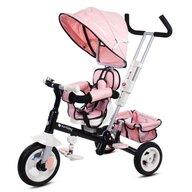 Sun Baby - Tricicleta Super Trike Plus Mecanism de pedalare libera, Control al directiei, Scaun reversibil, Roz