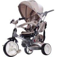 Tricicleta Little Tiger Mecanism de pedalare libera, Control al directiei, Scaun reversibil, Bej