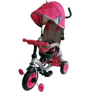 Baby Mix - Tricicleta Sunrise Turbo Trike Mecanism de pedalare libera, Suport picioare, Control al directiei, Scaun reversibil, Roz