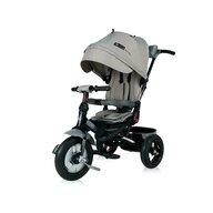 Lorelli - Tricicleta Jaguar Air Wheels Suport picioare, Control al directiei, Rotire 360 grade, Scaun reglabil Luxe, Gri