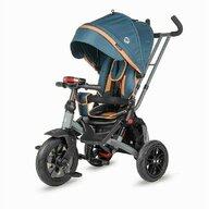Coccolle - Tricicleta Pianti True Control al directiei, Rotire 360 grade, Scaun reglabil, Albastru