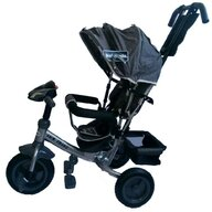 Baby Mix - Tricicleta Lux Trike Mecanism de pedalare libera, Suport picioare, Control al directiei, Spatar reglabil, Cu sunete si lumini, Albastru