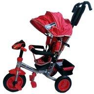 Baby Mix - Tricicleta Lux Trike Mecanism de pedalare libera, Suport picioare, Control al directiei, Spatar reglabil, Cu sunete si lumini, Rosu