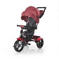 Lorelli - Tricicleta Neo Eva Wheels Suport picioare, Control al directiei, Rotire 360 grade, Scaun reglabil, Negru/Rosu