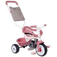 Smoby - Tricicleta Be Move Comfort Mecanism de pedalare libera, Suport picioare, Control al directiei, Roz