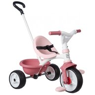 Smoby - Tricicleta Be Move Mecanism de pedalare libera, Control al directiei, Roz