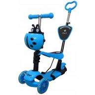 R-Sport - Trotineta H3 5 in 1, cu Led, Cu 3 roti, Cu sezut, Albastru
