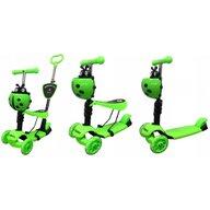 R-Sport - Trotineta H3 5 in 1, cu Led, Cu 3 roti, Cu sezut, Verde