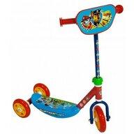 Saica - Trotineta pentru copii cu 3 roti, din silicon, Paw Patrol, Albastru/Rosu