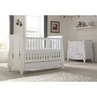 Tutti Bambini - Set mobilier Katie format din 2 piese: patut si comoda, White