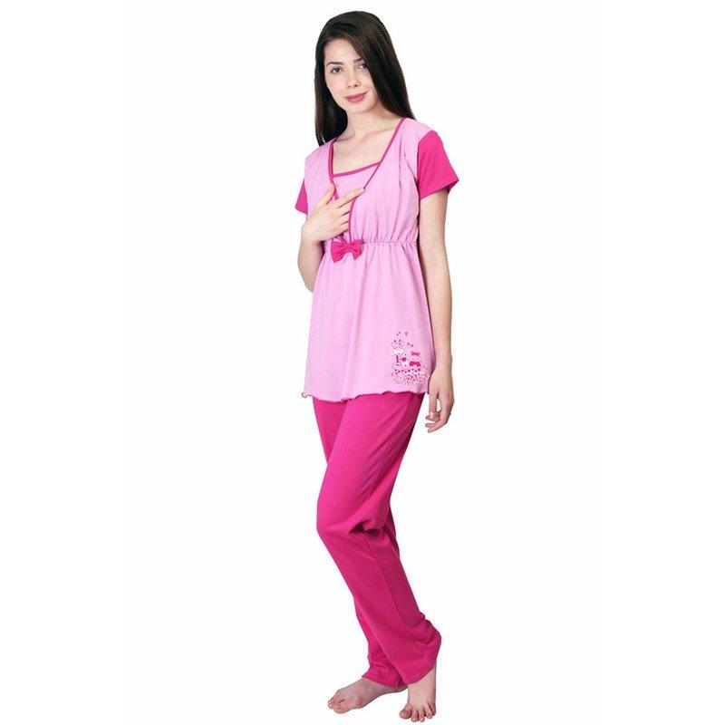 Uniconf – Pijama pentru alaptat Fucsia XL din categoria Lenjerie pentru gravide si proaspete mamici de la Uniconf