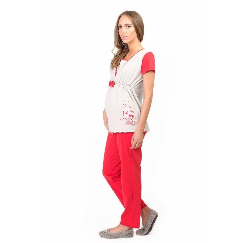Uniconf – Pijama pentru alaptat Red XL din categoria Lenjerie pentru gravide si proaspete mamici de la Uniconf
