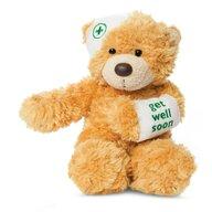 Aurora - Jucarie din plus Ursulet Bonnie 23 cm, Cu mesaj Yoohoo&Friends, Bej