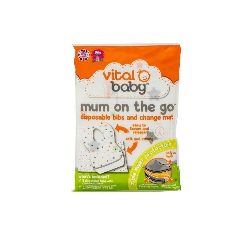 Vital Baby Kit Mum On The Go (3 bavete+1 saltea de infasat)