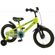 Volare - Bicicleta copii baieti 14 inch Bike electric cu roti ajutatoare, Verde neon