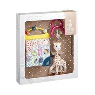 Vulli - Set cadou Girafa Sophie, zornaitoare si carticica cu activitati
