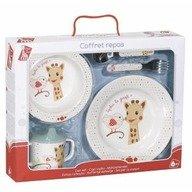 Vulli - Set pentru masa melamina Girafa Sophie & Kiwi cutie cadou