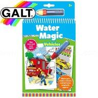 Galt - Carte de colorat Water Magic, Vehicule